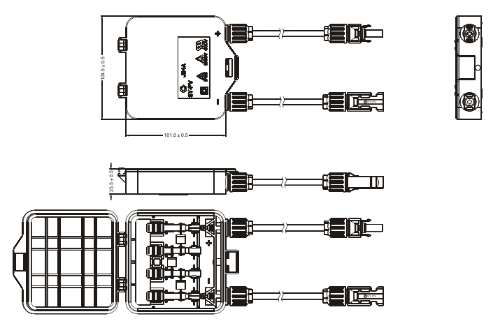 ul94v - 0  光伏接线盒的作用:   光伏接线盒在太阳能电池组件